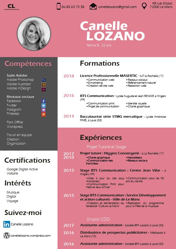cv  u2013 portfolio de canelle lozano
